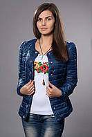 Женская демисезонная куртка. Код модели К-54-12-15. Цвет светло синий.