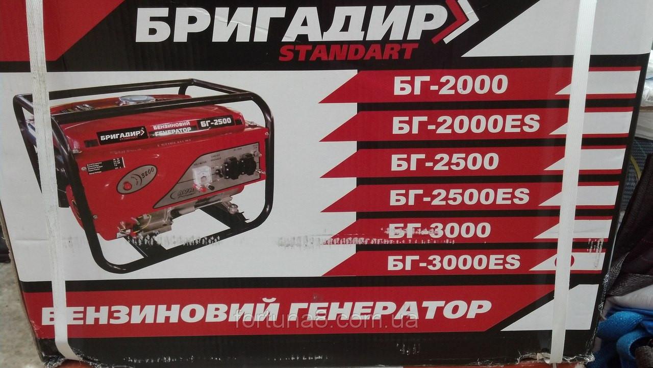 Бензиновый генератор Бригадир