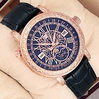 Мужские кварцевые наручные часы Patek Philippe Grand Complications Sky Moon Tourbillon gold black