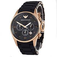 Мужские (Женские) кварцевые наручные часы Emporio Armani gold black