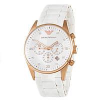 Мужские (Женские) кварцевые наручные часы Emporio Armani gold white