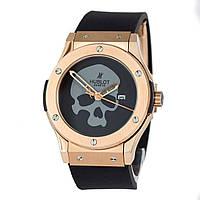 Мужские (Женские) механические наручные часы Hublot Skull Bang gold