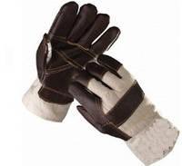 Перчатки кожанные утепленные (х/б+ кожа)
