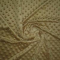 Плюш минки цвета капучино, ширина 84 см, плотность 350 г/м