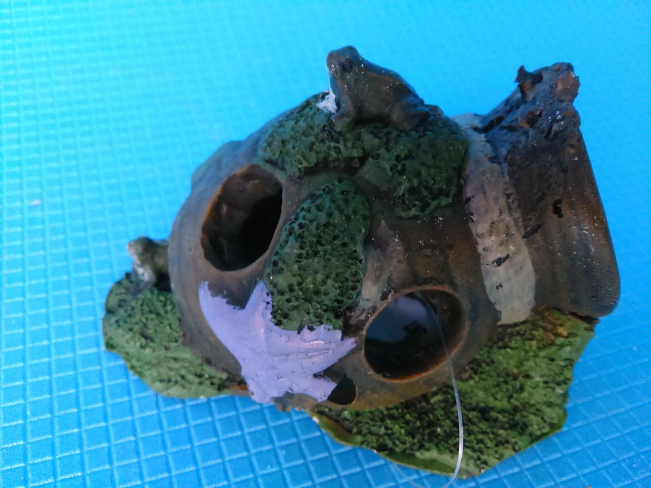 Амфора мини с лягушкой QB-029