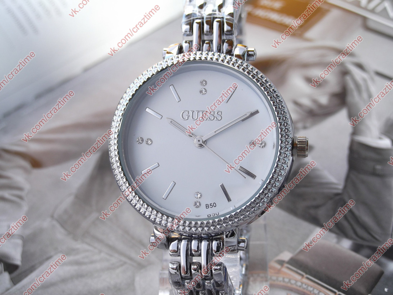1eb367ce Женские кварцевые наручные часы Guess B50 (448210402). Цена, купить ...