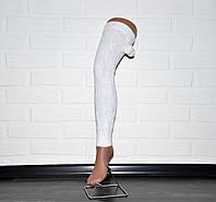 Белые гетры женские, выше колена