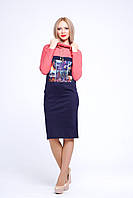Платье с карманами Амаретто синее