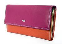 Красочный женский кошелек из натуральной кожи от Dr. BOND выполнен в элегантном дизайне (12221)