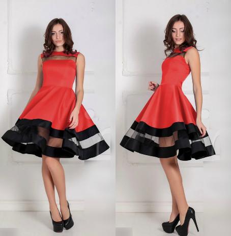 74a1211bc56 Женское платье Valentine красное - Интернет-магазин