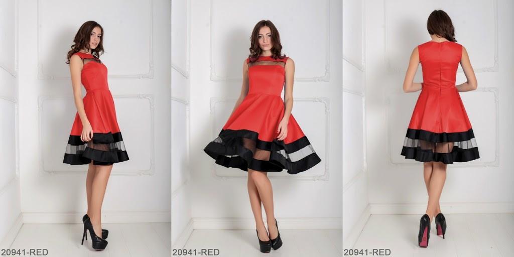 4239541ff07 Женское платье Valentine красное  продажа