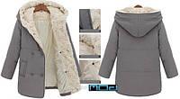 Женское стильное пальто-парка