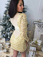 Изящное платье с паетками №1231 (2 цвета)