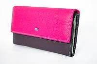 Красочный женский кошелек из натуральной кожи от Dr. BOND выполнен в элегантном дизайне (12223)