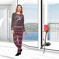 Велюровая женская  зимняя  пижама  Т 15700