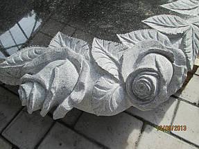 """Изготовление памятника для двоих """"Розы и виноград"""" 7"""