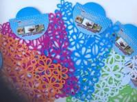 Коврик силиконовый для кухонной раковины Цветы 30х24