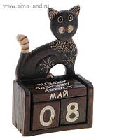 Календарь деревянный Кошка