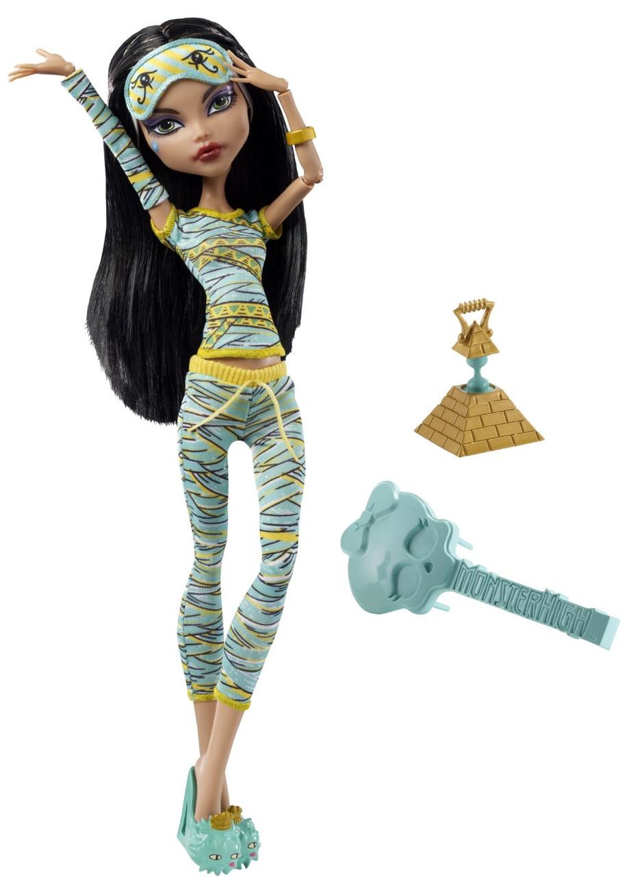Кукла Монстер Хай Клео Де Нил Пижамная вечеринка Monster High Cleo De Nile Dead Tired