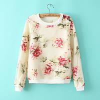 Женский свитер с цветочным принтом