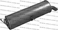 Глушитель на Ситроен C4 2.0i 16V хэтчбек 2004-2007 алюминизированный,EDEX 19.221