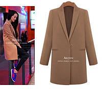 Легкое Женское пальто на одну пуговицу