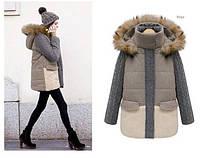 Женское пальто парка с мехом
