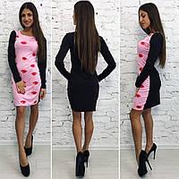 Женское молодежное платье с губками 88790