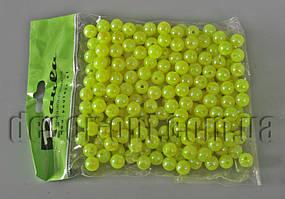 Бусы лимоные перл.8 мм 50 гр