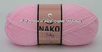 Детская пряжа Super bebe Супер бэби Нако, 23069, розовый