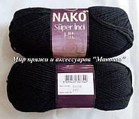 Пряжа Супер инси хит Super inci  Hit Нако, № 217, черный