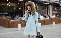 Женское пальто с большими карманами