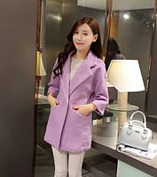 Пальто на одной пуговице для девушки