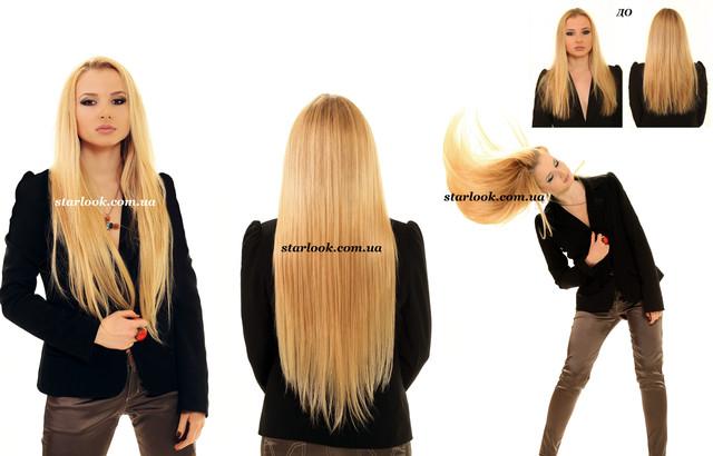 волосы на заколках фото