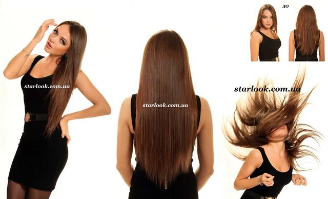 волосы на заколках фото до и после