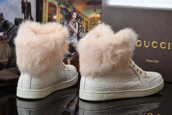 Зимние короткие сапоги Gucci