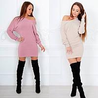 Женское теплое платье-свитер 88594