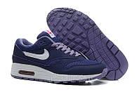 Женские кроссовки Nike Air Max 87 темно-синие с белым, фото 1