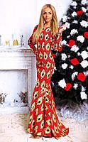 """Элегантное длинное вечернее платье 138 """"Годе Вензеля Макси"""" в расцветках"""