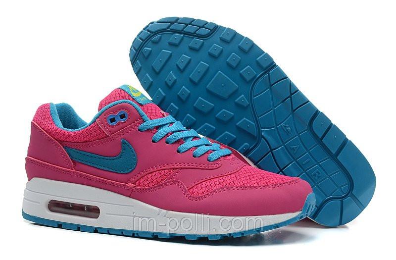 Женские кроссовки Nike Air Max 87 розовые с голубым