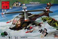 Конструктор Brick  818 Военный вертолет(275дет)