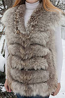 Женский  жилет из меха койота., фото 1