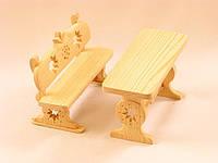 Стол и скамейка для куклы, фото 1