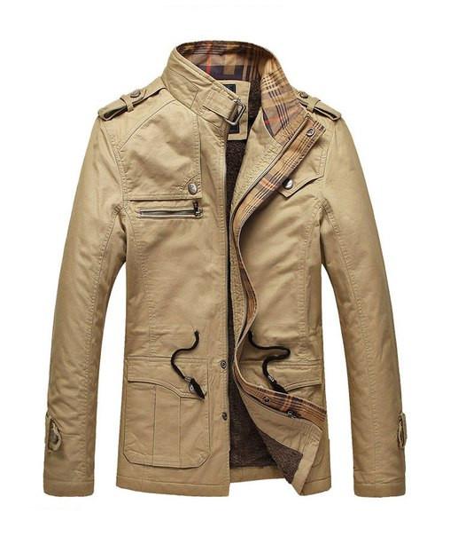 Мужское котоновое пальто на меху
