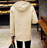Мужское приталенное пальто на меху, фото 3