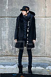 Мужское пальто с оромным воротником и с капюшоном, фото 2