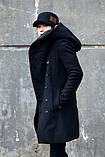 Мужское пальто с оромным воротником и с капюшоном, фото 3
