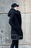 Мужское пальто с оромным воротником и с капюшоном, фото 4