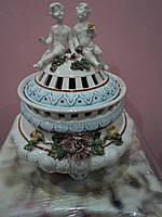 Ваза фарфоровая с ангелами. Италия., фото 1