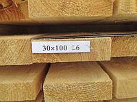 Доска обрезная 30х100х6000